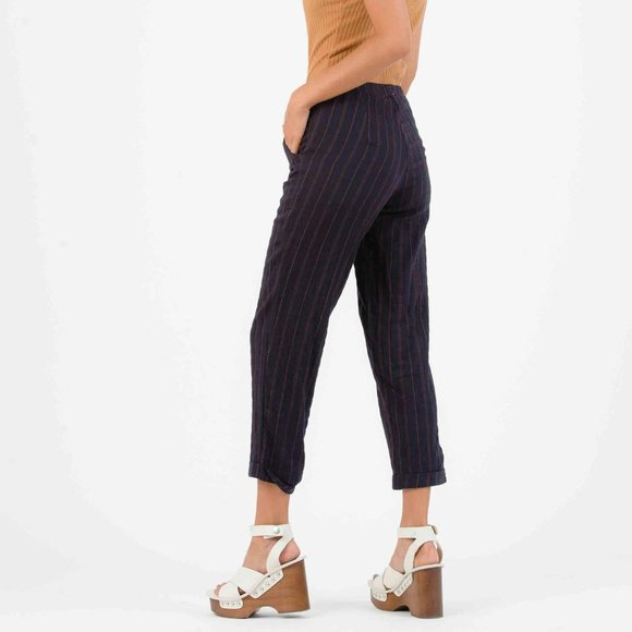 Lucca Couture Pants - LUCCA COUTURE Mallroy Pin Striped Cotton Pants